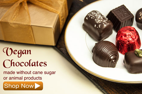 Vegan Chocolates made without cane sugar or animal products of any kind