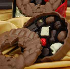 Belgian Chocolate Wreath Box